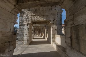 Arles Ampitheatre - walkway by CyclicalCore