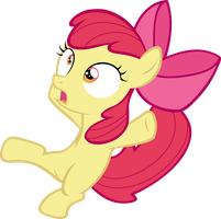 Applebloom falling over by FabulousPony