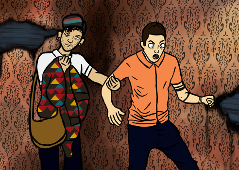 Tyler and Josh go to a Haunted House by KmesonAJ