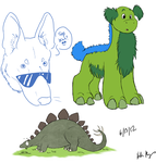 I AM A STEGOSAURUS by WildDogChild