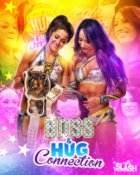 Sasha Banks and Bayley Boss N Hug Connection by WWESlashrocker54