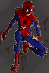 Spider-Man  - After Fight   (Blood...) by Captain-Iron-Pencil