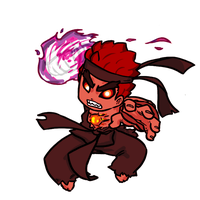 Evil Ryu Pocket Fighter ver. by gammanaut