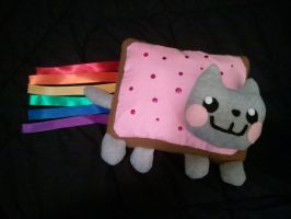 Nyan Cat Throw Pillow by jameson9101322
