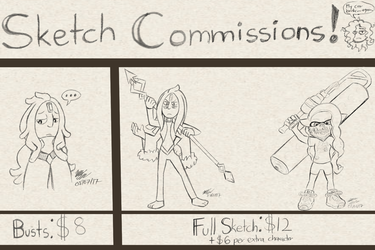 Sketch Commissions Specials by Knuxtiger4
