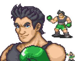 Little Mac mugshot and sprite by kyoskue