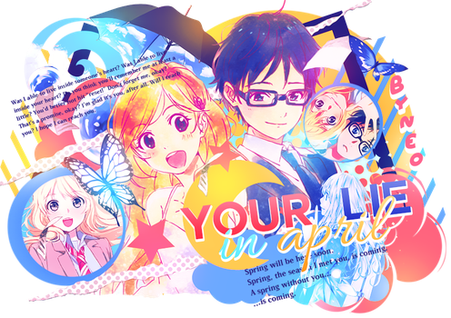Your lie in april by MateNeo