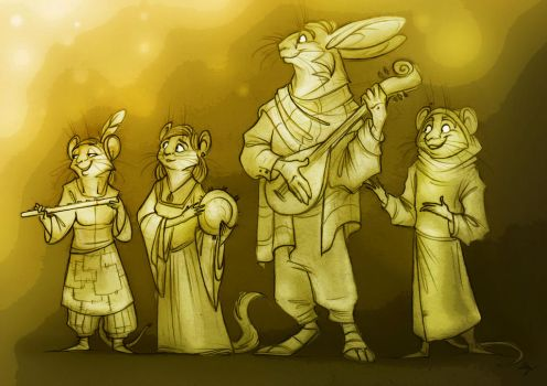 The Wandering Actors. by FortunataFox