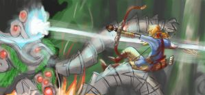 Link vs Ancient Automaton by Jo-Onis