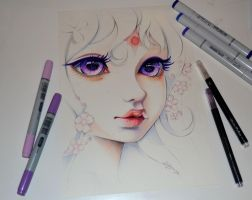Lady Amalthea - The Last Unicorn by Lighane