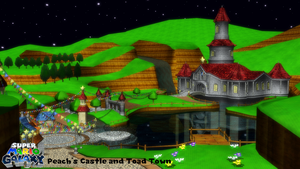 (MMD Stage) Peach's Castle (Super Mario Galaxy) DL by SAB64