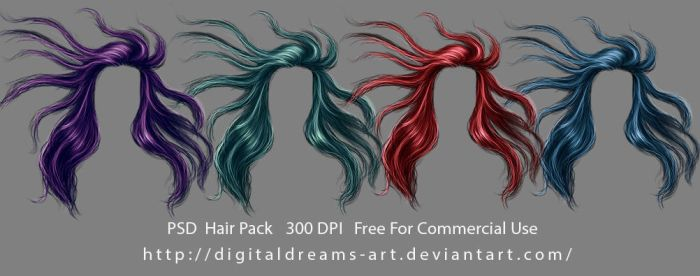 Hair pack 12 by DigitalDreams-Art