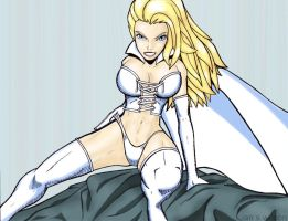 Emma Frost Finished by RightHandOfDoom
