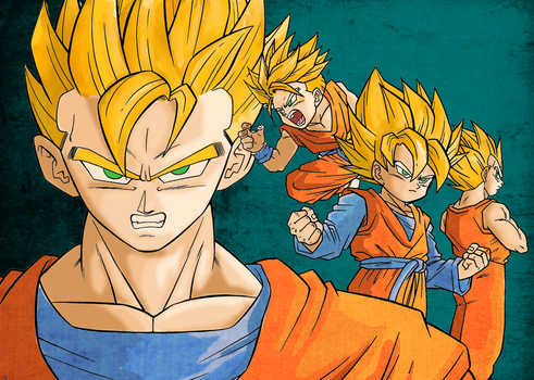 Dbz Peeps colouring by superiorprimate