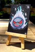 +Gastly ACEO - Pokemon+ by madhouse-arts