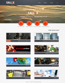 Callex - web design by GavrielStudio