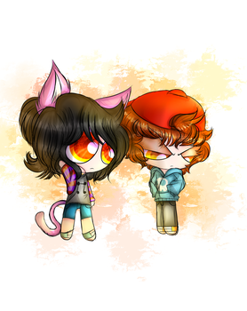 (Gift)The Cat Girl And The Shy Boy by KatyTheKillerBr