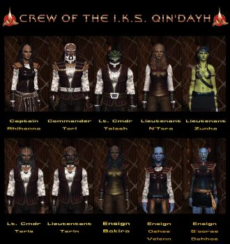 Crew Of The I.K.S. Qind'ayh by celticarchie