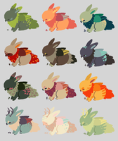 OPEN! - Bunny Griffs POINT adopts by Chigle