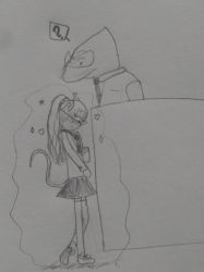 Layla's first day encountering Lars by 8TeamFriends8