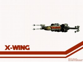 X-Wing Wallpaper by Aideon