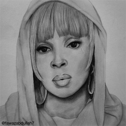 My drawing of #MaryJblige by TaKa-No-Mi