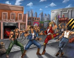Double Dragon (Brawl with the Shadow Warriors) by SoulStryder210