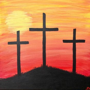 Three Crosses  by The-Sunflower-Sniper