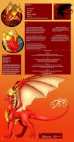 Flame's Ref Sheet by VDragon-Creations