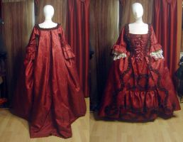 Robe a la franciase in red by azdaja