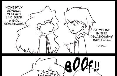 Ron and Hermione Comic Strip by TheQueenofSomething