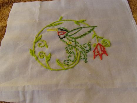Hummingbird embroidery by ImmortalEcstasyDream