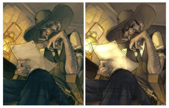 Charles Siringo Colour Studies by weremagnus