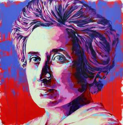 Rosa Luxemburg Painting by Olilolly11