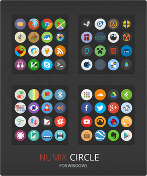 Numix Circle For Windows by niivu