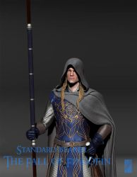 Fingolfin Standard Bearer 3D - Detail by Breogan