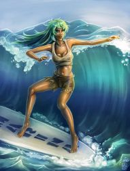 Marina out on the Waves by PsylisiaDragoon