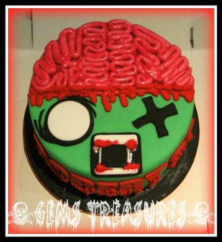 ZOMBIE! This cake bites...... by gertygetsgangster