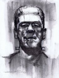 Karloff  Frankenstein Monster by Fusciart