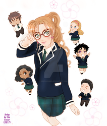 Haruna and Co (Chibi-Style) by abielleamiel
