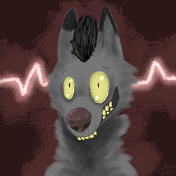 Crazy eyes (art trade)  by jazzyloveswolves