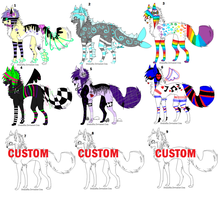 Scene dog Adoptables 10 points each by Nightstars-adopts