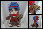 Prince of Persia plushie by eitanya