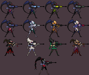 Widowmaker Pixel Skins by THC-Gourami