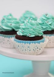 Tiffany Blue Cupcakes by theresahelmer