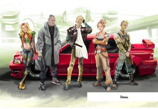 RCBG characters by nerresta
