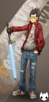 Travis Touchdown by hanzthebox