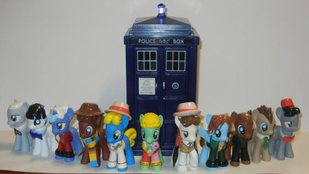 The Eleven Doctors and the TARDIS by SilverBand7