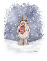 Snowflake - Holiday Art Swap 2012 by Chasse-Lune