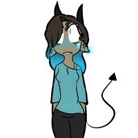My blue child~~ by Galaxyandspacelover